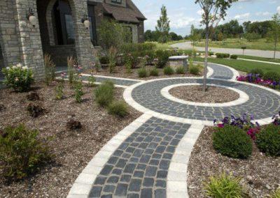 Gates Mills, Ohio – Custom Walkway – Designed Area To Plant A Gorgeous Ornamental Tree