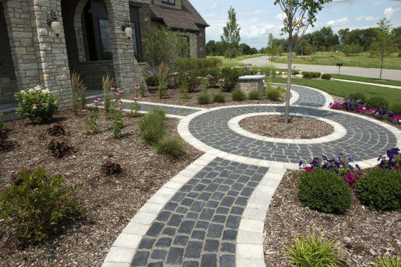 Gates Mills, Ohio – Custom Walkway – Designed Area To Plant A Gorgeous Ornamental Tree