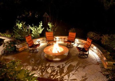Beachwood, Ohio – Paver Patio With Fire Pit Feature