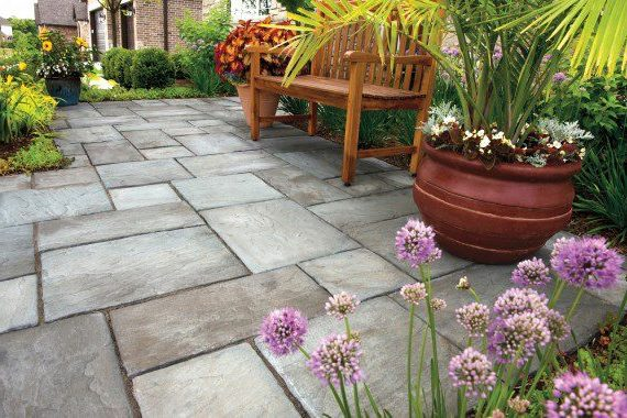Strongsville, Ohio – Lush Landscaping Bordering Paver Walkway