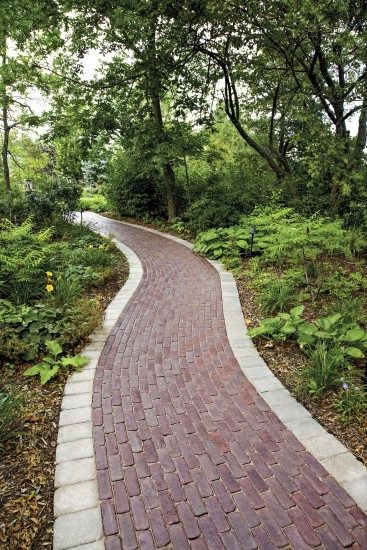 Bath, Ohio – Lovely Herringbone Paver Walkway In The Woods