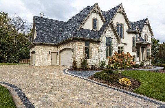 Gra Gul Drive, Avon, Ohio – Paver Driveway And Walkway Which Accents Matching Roof