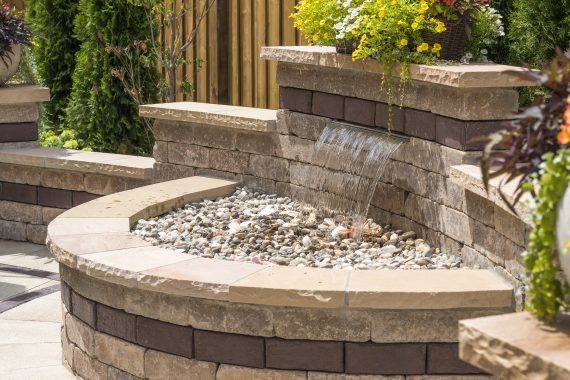 Shaker Heights, Ohio – Serenity Is Yours With A New Paver Patio Including A Waterfall Feature