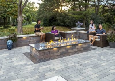 Beachwood, Ohio – Enjoy The Warmth Of A Contemporary Fire Feature