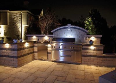 Independence, Ohio – Outdoor Kitchen with Lighting
