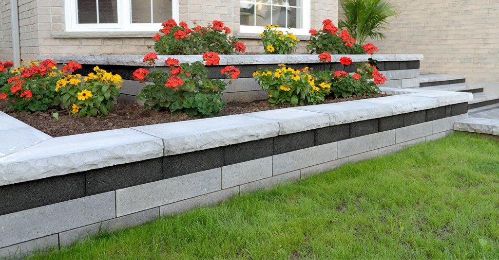Beachwood, Ohio – New Front Entrance including Multi Level Raised Flower Beds