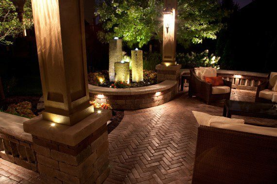 Gates Mills, Ohio – Paver Patio With Water Tower Feature