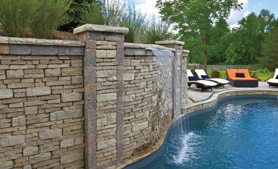 Gates Mills, Ohio – Waterfall Feature For Inground Swimming Pool