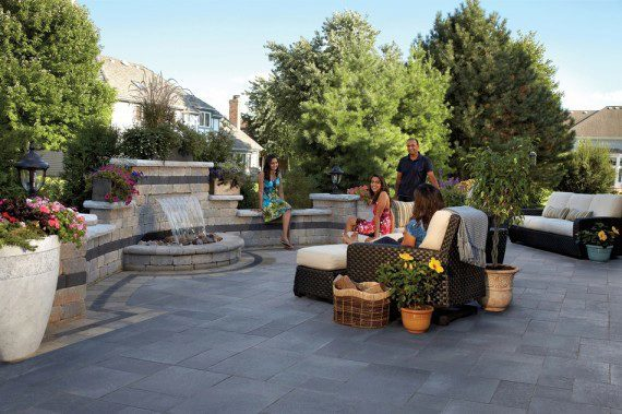 Broadview Heights, Ohio – Invite Your Friends To Your Superb Paver Patio With Water Feature