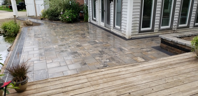 Paver Patio with Elevated Deck
