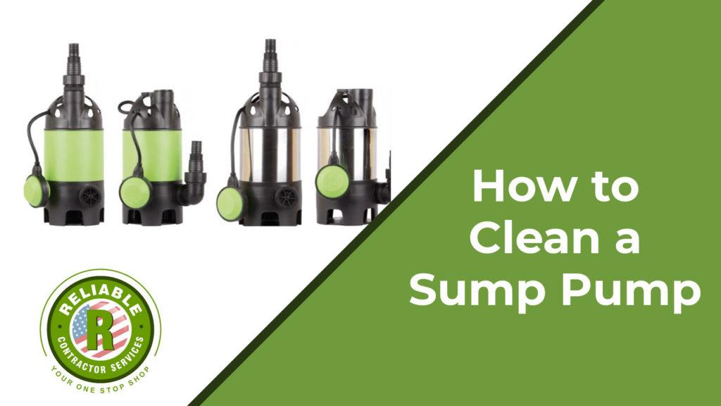How to clean a sump pump
